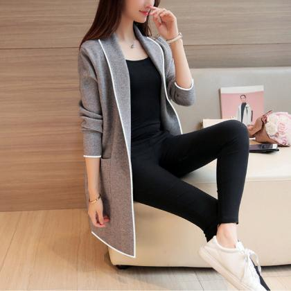 Womens Casual Open Front Cardigan T..