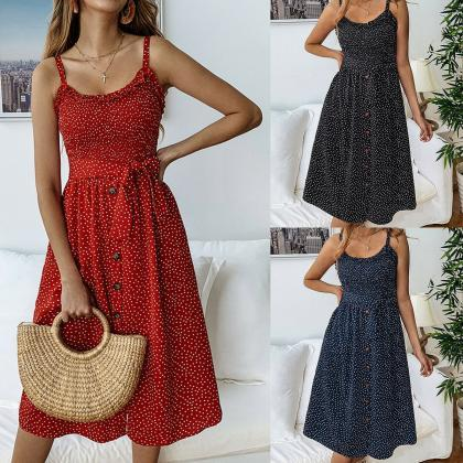 Womens Summer Boho Vintage Long Max..