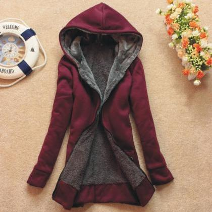 Women's Fashion Thicken Warm Hoodie..