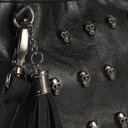 Skull Studs Cool Punk Leather Goth ..