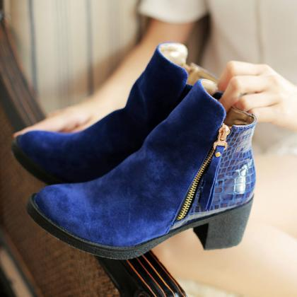 Womens Winter Ankle Boots High Heel..
