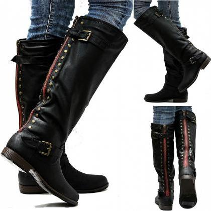 New Womens JM18 Red Zipper Black St..