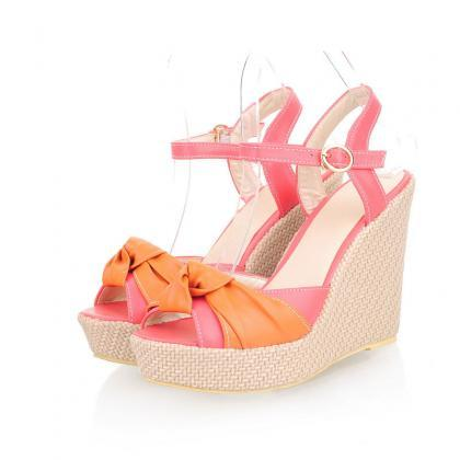 Womens Lady Wedge High Heels Shoes ..