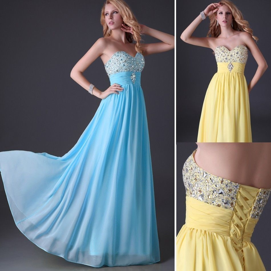Long Maxi Women\'s Formal Evening Ball Gown Wedding Bridesmaid Prom ...