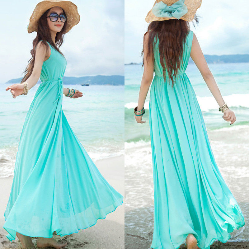 Beach Dresses Chiffon Dress On Luulla