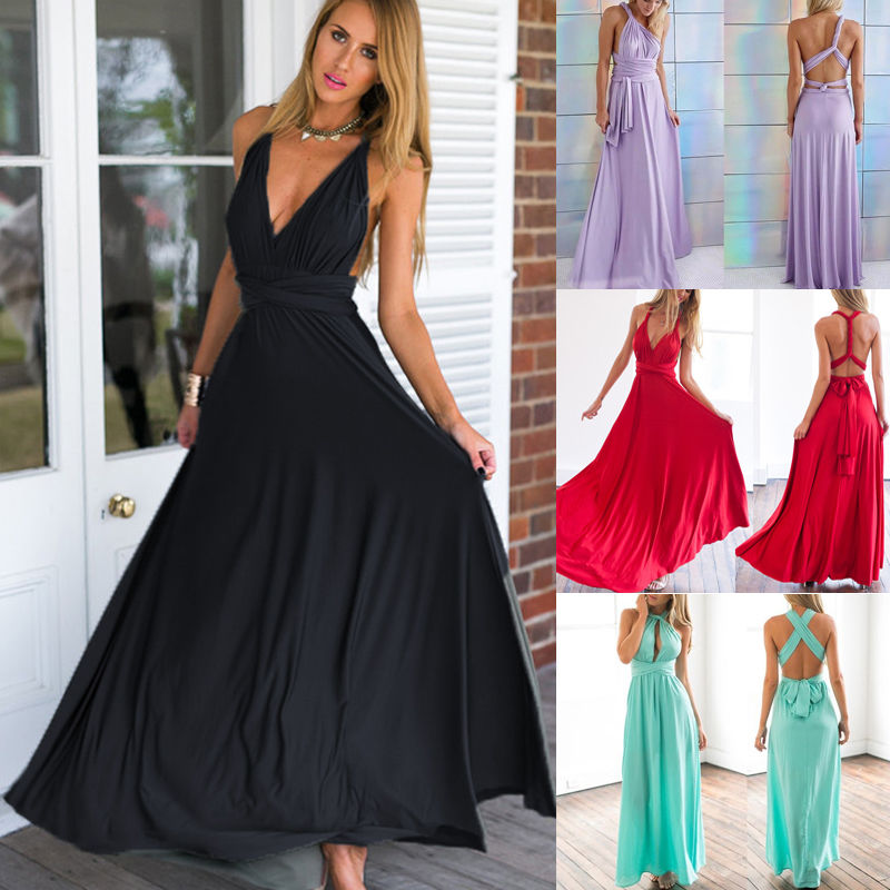 Women Sexy Summer Dress Boho Maxi Long Evening Party Dress