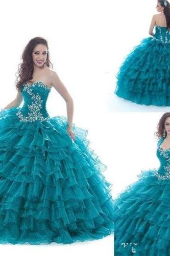 Formal Prom Party Pageant Ball Dresses Bridal Wedding Gown New Quinceanera Dress