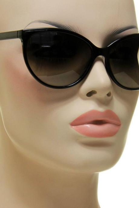 Women's Black Cat Eye Sunglasses Retro Classic Designer Vintage Fashion Shades