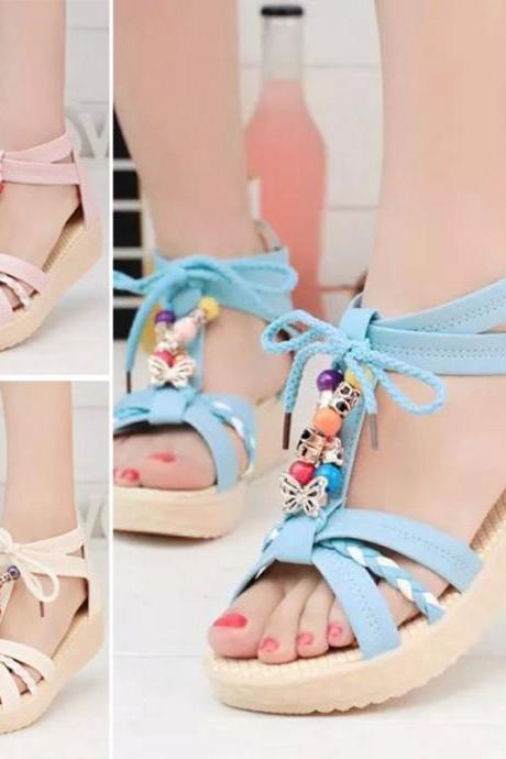 Women Open Toe Sandals High Heels Pumps Platform Sexy Wedge Shoes Ankle Strap
