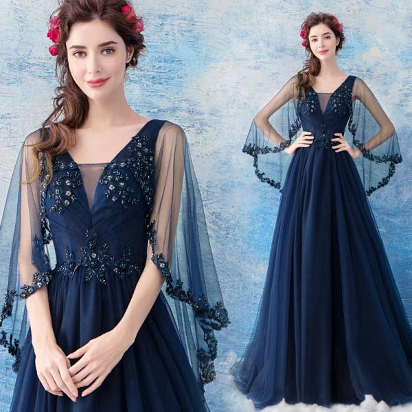 Angel wedding blue dinner party wedding dress bridesmaid dresses