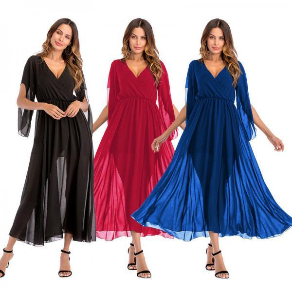 Women Summer Boho Long Maxi Evening Cocktail Formal Chiffon Party Beach Dress