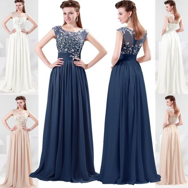Women Evening Prom Gowns Dresses Cokctail Party Dresses