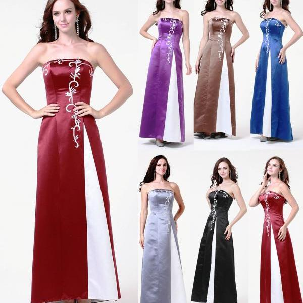 Formal Prom Gown Bridesmaid dress Cocktail Party Evening Dress